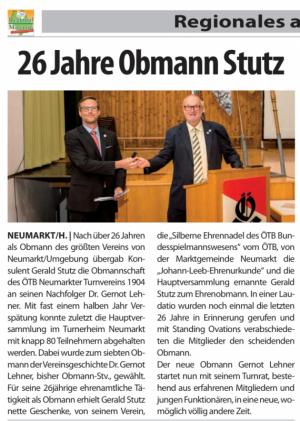 2020 11 17 Regionalmagazin Obmannwechsel