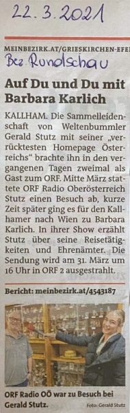 2021 03 22 Bezirksrundschau Grieskirchen
