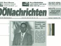 1998 09 05 OÖ Nachrichten Welser Messe Besuch