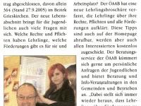 2005 11 03 Eferdinger News rat und hilfe für lehrlinge