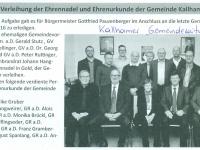 2017 03 01 Gemeindezeitung Kallham Verleihung Goldene Ehrennadel der Gmde Kallham