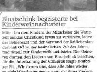 2019 12 06 Raiffeisenzeitung RLB Kinderweihnachtsfeier
