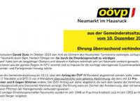 2020 12 15 ÖVP Neumarkt Journal