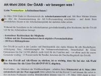 2004 03 02 AK Wahl 2004 Bürgermeisterbrief Neumarkt