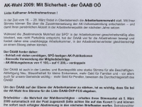 2009 03 01 AK Wahl 2009 Bürgermeisterbrief Kallham