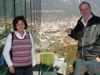 2008 10 26 Gardasee ASVOÖ Klausur Heimfahrt  Innsbruck Berg Isel Sprungschanze