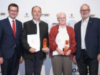 2019 06 04 Landessportehrenzeichen Bronze Alois Ennser und MR Dr Sepp Lehner