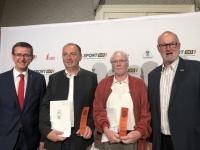 2019 06 04 Landessportehrenzeichen Bronze MR Dr Sepp Lehner und Alois Ennser