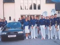 1993 09 18 Audi 80 Grün: 1. Ausfahrt mit KZ GR-ÖTB1 zum SZ-Einsatz Scharnstein