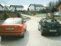 1999 03 27 VW Passat mit Ingrids VW Golf Cabriolet