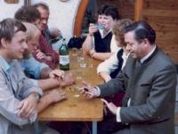 1981 Betriebsausflug Gänserndorf, Weinkeller Wachau