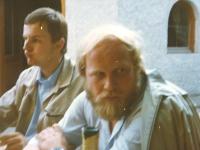 1981 Betriebsausflug Gänserndorf, Weinkeller Wachau mit Baumeister Hans Mugrauer