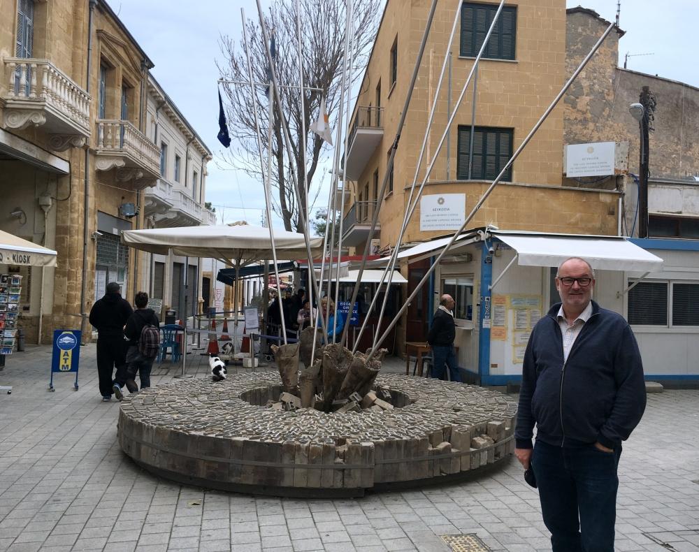 Türkische Republik Nordzypern 2018 02 26 Nikosia Grenzübergang