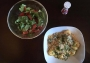2020 05 15 Tortellini Carbonara mit gemischten Salat