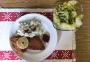 2020 05 31 ME Wiener Schnitzerl mit Erbsenreis und grünen Salat