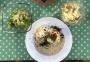 2020 06 11 AE Kärtner Kasnudeln und schwäbische Maultaschen mit Speck Zwiebelsauce Krautsalat und grünen Salat