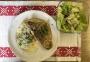 2020 06 21 ME Lachsforelle auf Spargelrisotto und gemischten Salat