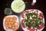 2020 06 26 AE Griechischer Salat mit Süsskartoffelscheiben
