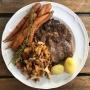 2020 07 23 AE Rib Ey Steak mit Eierschwammerl und jungen Karotten