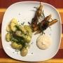 2020 08 03 AE Überbackene Kartoffel mit Speckkarotten