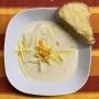 2020 11 11 Käsecremesuppe mit Gemüstreifen und Käsetoastecken