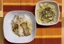 2020 12 15 Tagliatelle mit Speck und Kräuterseitlingen und Salat