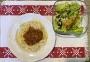 2021 01 03 Spaghetti Bolognese mit grünem Salat