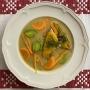 2021 01 30 Lauchcremesuppe mit Karotten und Cheddarkäseecken