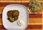 2021 02 03 Gemüselaibchen mit Kräuter Knoblauch Dip und Zuckerhut Salat