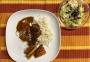 2021 02 04 Chicken Tandoori mit Reis und glacierten Karotten mit Zuckerhutsalat