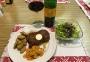 2021 02 05 Rumpsteak mit Ofenkartoffeln und Karotten Lauchgemüse und grünen Salat
