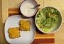 2021 02 17 Thunfischtoast mit gemischten Salat und Kräuterdip