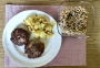 2021 03 13 Faschierte Laibchen mit Erdäpfelschmarrn und Bohnensalat