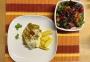 2021 03 29 Porree Hackfleisch Auflauf mit Kartoffeln und Blattsalat