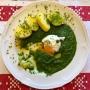 2021 04 01 Spinat mit pochiertem Ei und Kartoffeln