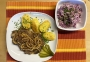 2021 04 07 Zwiebelrostbraten Wiener Art  mit Bratkartoffeln und Coleslaw