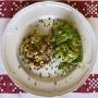 2021 04 12 Linsen Reispfanne mit Gemüse und grünen Salat