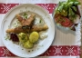 2021 05 07 Vegetarisches Spargel Cordon Bleu mit Petersilerdäpfel und Blattsalaten