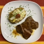 2021 05 12 Minuten Steaks mit überbackenen Ofenkartoffel gefüllt mit Champignons und Spargel