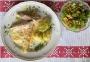 2021 05 16 Überbackene Schinken-Spargel-Rolle in Sauce Hollandaise mit Petersilkartoffel und Frisesalat