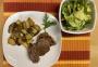 2021 05 18 Mini Steaks mit bunten Ofengemüse und Blattsalat