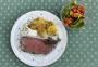 2021 06 08 Roastbeef mit Sauce Tartare und Bratkartofferl sowie gemischten Salat