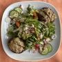 2021 06 21 Blattsalate mit überbackenen Portobello Pilzen