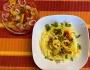 2021 08 06 Pasta Peperonata mit Tomatensalat