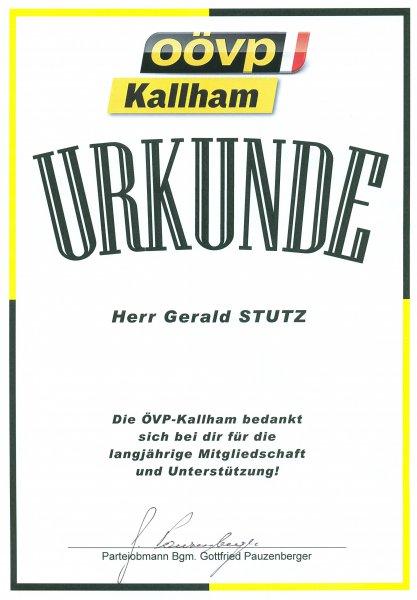 2012 03 20 Ehrenurkunde der ÖVP Kallham
