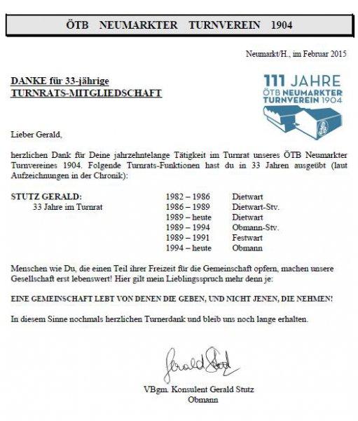 2015 02 12 Ehrung für 33 Jahre im Turnrat des ÖTB Neumarkter Turnverein