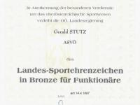 1997 04 14 Landessportehrenzeichen des Landes OÖ in Bronze