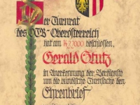 2000 03 18 Ehrenbrief des ÖTB OÖ
