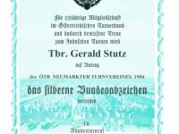 2006 03 31 Silbernes Ehrenzeichen des ÖTB für 25 Jahre Mitgliedschaft