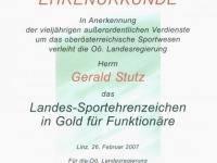 2007 03 29 Landessportehrenzeichen des Landes OÖ in Gold